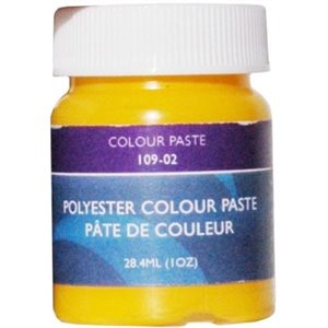 Gelcoat color paste yellow 1oz.