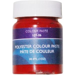 Gelcoat couleur pâte rouge 1 once