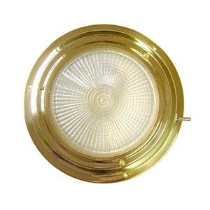 "Dome light brass 4"" halogen"