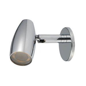 Lampe de lecture DEL avec interrupteur 2W chrome