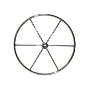 "Barre à roue inox. de 34 ""6 rayons"