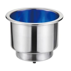 "Can holder with blue LED 2-5 / 8"" diameter"