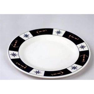 Plate 8'' anchor compass design set of 6