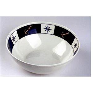 Bowl 7'' anchor compass design set of 6