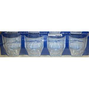 Glass water 360ml 4 / pk unbreakable