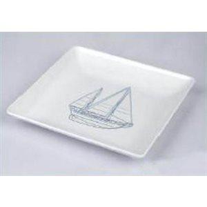 Plate 9'' sailboat design square each