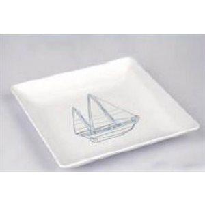 Plate 8'' sailboat design square each