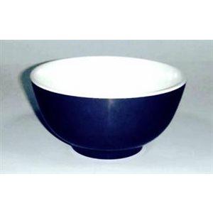 Bowl 7'' white / navy each