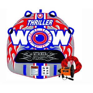"""Thriller deck tube starter kit 1 person includes pump and tow rope 50"""" × 48"""""""
