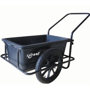 Dock cart with pneumatic tires