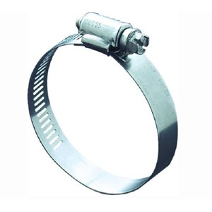 """Hose clamp min 1-1 / 4"""" max 2-1 / 4"""" all stainless"""