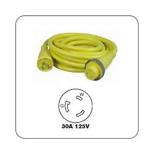 Cable 'Shore Power' Hubbell 30amp 50'