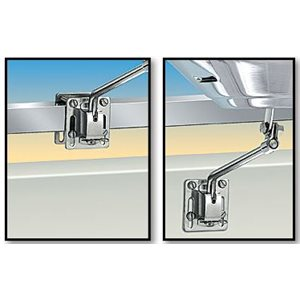 Support grilles Kettle s'adapte aux rails carré ou plat ou sur le côté (cloison)