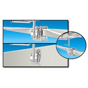 Monture BBQ côté / cloison ou rail carré / plat
