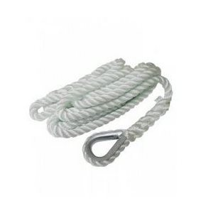 """Mooring line with Galvanised thimble 3 / 4"""" X 25'"""
