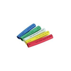 """Heat shrink 3 / 8"""" x 3"""" multi color (5)"""