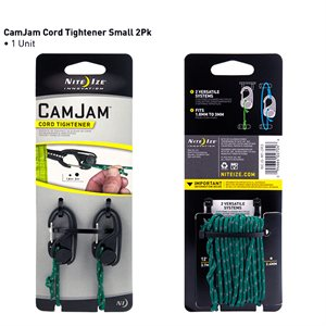 Camjam small cord tightener - 2pk with reflective rope
