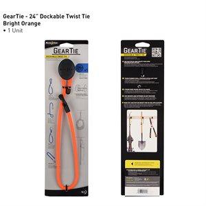 Gear tie attaches ancrable réutilisables en caoutchouc 24'' - orange